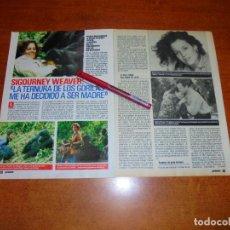 Coleccionismo de Revistas y Periódicos: CLIPPING 1989: SIGOURNEY WEAVER. Lote 194978350