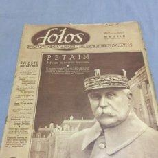 Coleccionismo de Revistas y Periódicos: FOTOS 13-7-1940 PETAIN JOSE CALVO SOTELO JORGE VI SUK-EL-GIUMA. Lote 194983407