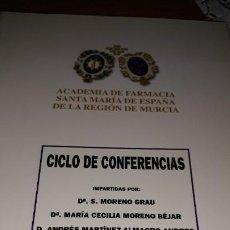 Coleccionismo de Revistas y Periódicos: ACTAS ACADEMIA FARMACIA SANTA MARIA DE ESPAÑA MURCIA CARTAGENA 2005 REMEDIOS TRADICIONALES. Lote 194983582