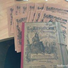 Coleccionismo de Revistas y Periódicos: LA ESPOSICIÓN NACIONAL DE BELLAS ARTES 1897 COMPLETA CON LOS 18 CUADERNILLOS Y ARCHIVADOR (COIB62). Lote 195015391