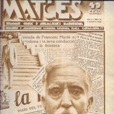 Coleccionismo de Revistas y Periódicos: SEMANARI GRÀFICA D'ACTUALITATS BARCELONA * IMATGES * Nº 17 - 1 /10 /1930 -PORTADA MACIÀ. Lote 195023351