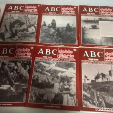 Coleccionismo de Revistas y Periódicos: ABC 1936-1939 DOBLE DIARIO DE LA GUERRA CIVIL LOTE NUMEROS DEL 11 AL 36. Lote 195034447