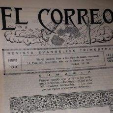 Coleccionismo de Revistas y Periódicos: EL CORREO REVISTA EVANGÉLICA TRIMESTRAL Nº 113 1935 FE CADENA IRROMPIBLE GASTO DEFENSA TALLERS ÚNICA. Lote 195036247