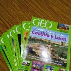 Coleccionismo de Revistas y Periódicos: REVISTA GEO, LOTE DE 10 NÚMEROS, SUELTOS A 1,95 €.. Lote 195038712