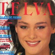 Coleccionismo de Revistas y Periódicos: TELVA Nº 529 1ª QUINCENA MAYO 1986. TRAJES DE DOÑA SOFIA, BELLEZA, 1 MAYO MADRES QUE DAN QUE HABLAR. Lote 195042223