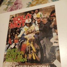 Coleccionismo de Revistas y Periódicos: SÓLO MOTO. Lote 195048750