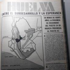 Coleccionismo de Revistas y Periódicos: HUELVA , ENTRE EL SUBDESARROLLO Y LA ESPERANZA. ARTÍCULO 3 PÁGINAS AÑO 1973. Lote 195052216