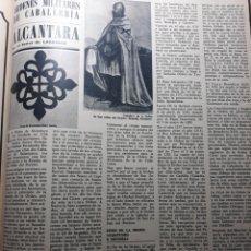 Coleccionismo de Revistas y Periódicos: ORDENES MILITARES DE CABALLERIA . ALCÁNTARA POR EL SEÑOR LASSALLE . AÑO 1973. 2 PAGINAS. Lote 195054595