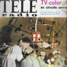 Coleccionismo de Revistas y Periódicos: REVISTA TELE RADIO Nº 476, 6-12 FEBRERO 1967, HOSPITAL LA PAZ, JULIETTE GRECO, ANTONIO GALA. Lote 195067346