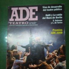 Coleccionismo de Revistas y Periódicos: ADE TEATRO, Nº 129 ENERO-MARZO 2010, REVISTA ASOCIACIÓN DE DIRECTORES DE ESCENA DE ESPAÑA. Lote 195070888