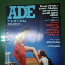 Coleccionismo de Revistas y Periódicos: ADE TEATRO,Nº 140 ABRIL-JUNIO 2012, REVISTA ASOCIACIÓN DE DIRECTORES DE ESCENA DE ESPAÑA. Lote 195072666
