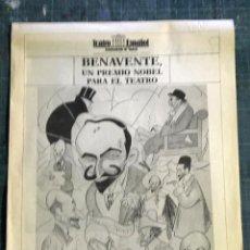 Coleccionismo de Revistas y Periódicos: TEATRO ESPAÑOL, MADRID. BENAVENTE, UN PREMIO NOVEL PARA EL TEATRO PUBLICACIÓN DE GRAN FORMATO. Lote 195082742