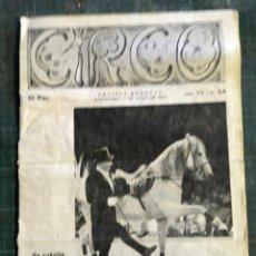 Coleccionismo de Revistas y Periódicos: CIRCO. REVISTA MENSUAL. Nº 54 BARCELONA MAYO 1962. Lote 195082910