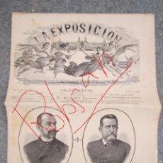 Coleccionismo de Revistas y Periódicos: LA EXPOSICIÓN Nº 5, 1887-1888, PABELLÓN DE COLONIAS ESPAÑOLAS. BUEN ESTADO GENERAL.. Lote 195091240
