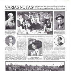 Coleccionismo de Revistas y Periódicos: 1911 HOJA REVISTA JUEGOS FLORALES CARTAGENA POETA GONZALO CANTÓ. Lote 195097715