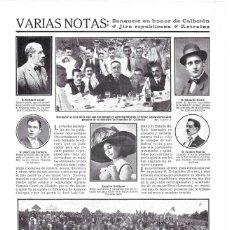 Coleccionismo de Revistas y Periódicos: 1911 HOJA REVISTA CONCURSO BIBLIOTECA DE AUTORES GALLEGOS EDUARDO DIESTE AUTOR LEYENDAS DE LA MÚSICA. Lote 195097985