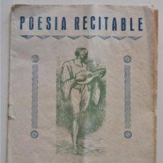 Coleccionismo de Revistas y Periódicos: POESÍA RECITABLE - FASCÍCULO Nº 1 - VALENCIA 24 FEBRERO DE 1952. Lote 195106597