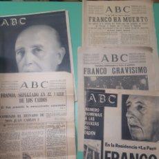 Coleccionismo de Revistas y Periódicos: LOTE ABC MUERTE DE FRANCO 1975. Lote 279521753