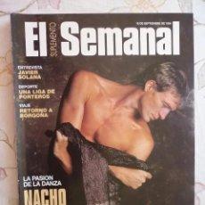 Coleccionismo de Revistas y Periódicos: SUPLEMENTO EL SEMANAL / LA PASIÓN DE LA DANZA:NACHO DUATO / Nº 360 - 1994. Lote 195119088