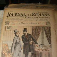 Coleccionismo de Revistas y Periódicos: LE MASQUE D'AMOUR - Nº 68 - JOURNAL DES ROMANS POPULAIRES ILLUSTRÉS - 1903. Lote 195134021