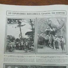 Coleccionismo de Revistas y Periódicos: EXPLORADORES BARCELONESES MARQUES ALFARRAS / EXPLORADORES DE ESPAÑA TARRACONENSES 2 HOJAS AÑO 1913. Lote 195135423