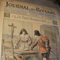 Coleccionismo de Revistas y Periódicos: LES TROIS MOUSQUETAIRES - JOURNAL DES ROMANS POPULAIRES ILLUSTRÉS N°56 - 1903. Lote 195136266