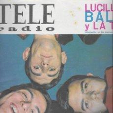 Coleccionismo de Revistas y Periódicos: REVISTA TELE RADIO Nº 374 , 22-28 FEBRERO 1965, LOS BRINCOS, MINA EN PAGINAS INTERIORES. Lote 195151708