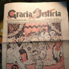 Coleccionismo de Revistas y Periódicos: GRACIA Y JUSTICIA, MADRID 4 MARZO DE 1933, 16 PÀGINAS DE HUMOR. Lote 195152147