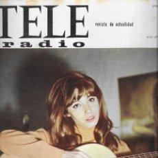 Coleccionismo de Revistas y Periódicos: REVISTA TELE RADIO Nº 380, 5- 11 ABRIL 1965, NURIA TORRAY, MARSILLACH, FRANCE GALL . Lote 195152778