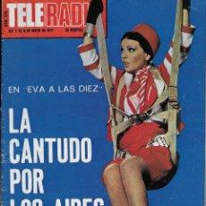Coleccionismo de Revistas y Periódicos: REVISTA TELE RADIO Nº 1010, 2-8 MAYO 1977, MARIA JOSE CANTUDO, EUROVISION 77. Lote 195152968