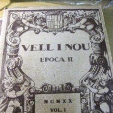 Coleccionismo de Revistas y Periódicos: REVISTA DE ARTE VELL I NOU EPOCA II 1920 VOL I Nº V ED BAYES . GERMANS LLIMONA ART. Lote 195153227