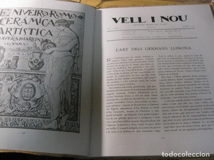 Coleccionismo de Revistas y Periódicos: revista de arte vell i nou epoca II 1920 Vol I nº V ed bayes . germans llimona art - Foto 2 - 195153227