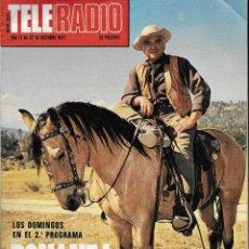 Coleccionismo de Revistas y Periódicos: REVISTA TELE RADIO Nº 1034, 17-23 OCTUBRE 1977, BONANZA, VICENTE ALEIXANDRE EN PAGINAS INTERIORES. Lote 195153337