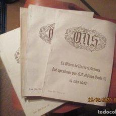 Coleccionismo de Revistas y Periódicos: ONS -REVISTA ORDEN NUESTRA SEÑORA -LOTE DE 8 -VIZCAYA, PRINCIPIOS AÑOS 50. Lote 195154513