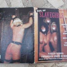 Coleccionismo de Revistas y Periódicos: REVISTA DE SADO U.S.A,BOX OF SLAVEGIRLS Nº ONE, REVISTA EROTICA ,SOLO PARA ADULTOS. Lote 195172535
