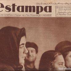 Coleccionismo de Revistas y Periódicos: ESTAMPA REVISTA GRAFICA , Nº 411 HARINA ADULTERADA EN EL CAMPO DE CARTAGENA A.1935. Lote 195173616