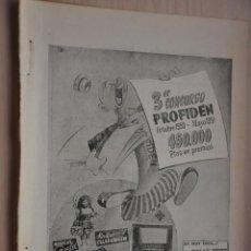 Coleccionismo de Revistas y Periódicos: HOJA REVISTA ANTIGUA PUBLICIDAD PROFIDEN. Lote 195185021