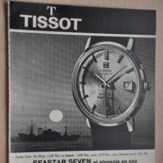 Coleccionismo de Revistas y Periódicos: HOJA REVISTA ANTIGUA PUBLICIDAD RELOJ TISSOT. Lote 195185126
