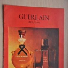 Coleccionismo de Revistas y Periódicos: HOJA REVISTA ANTIGUA PUBLICIDAD GUERLAIN. Lote 195185160