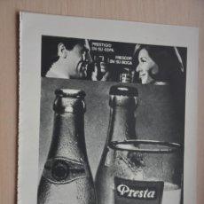 Coleccionismo de Revistas y Periódicos: HOJA REVISTA ANTIGUA PUBLICIDAD TONIC PRESTA. Lote 195185213