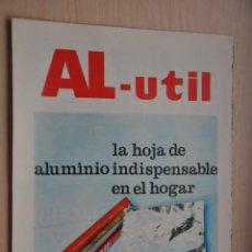 Coleccionismo de Revistas y Periódicos: HOJA REVISTA ANTIGUA PUBLICIDAD AL-UTIL. Lote 195185250