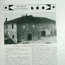 Coleccionismo de Revistas y Periódicos: BOO. VALLE DE ALLER. ASTURIAS. 1931. Lote 195191645