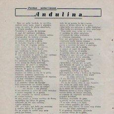 Coleccionismo de Revistas y Periódicos: MIERES. ABLAÑA. PUBLICIDAD. ASTURIAS. 1931. Lote 195192317