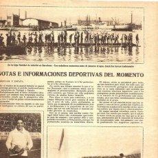 Coleccionismo de Revistas y Periódicos: 1928 HOJA REVISTA BARCELONA PUERTO NATACIÓN COPA DE NAVIDAD - GUARDAMETA F.C. BARCELONA PADRÓN. Lote 195211376