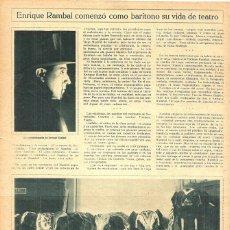 Coleccionismo de Revistas y Periódicos: 1928 HOJAS REVISTA ENRIQUE RAMBAL GARCÍA ACTOR Y DIRECTOR TEATRO '20.000 LEGUAS DE VIAJE SUBMARINO'. Lote 195214441