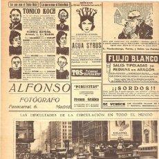 Coleccionismo de Revistas y Periódicos: 1928 HOJA REVISTA DIFICULTADES DE CIRCULACIÓN EN EL MUNDO USA NEW YORK QUINTA AVENIDA CRUCE CALLE 42. Lote 195215380