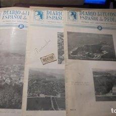 Coleccionismo de Revistas y Periódicos: MEDICINA - DIARIO DEL IX CONGRESO ESPAÑOL DE PEDIATRIA SANTIAGO 1954 - Nº 2-3-4 . Lote 195222887