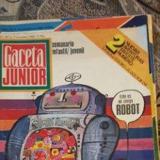 Coleccionismo de Revistas y Periódicos: 7 REVISTAS CORRELATIVAS GACETA JÚNIOR. Lote 195223532