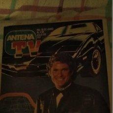 Coleccionismo de Revistas y Periódicos: REVISTA ANTENA TV PORTADA DAVID HASSELHOFF DE EL COCHE FANTÁSTICO Y REPORTAJE AÑO 1987. Lote 195240756