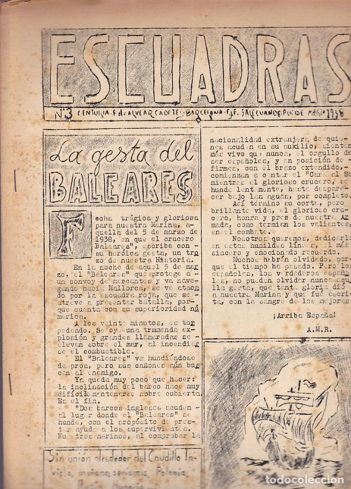 REVISTA ESCUADRAS REVISTA EDITADA POR CENTURIA F. ALVEAR CADETES F.JONS. DE BARCELONA (Coleccionismo - Revistas y Periódicos Modernos (a partir de 1.940) - Otros)